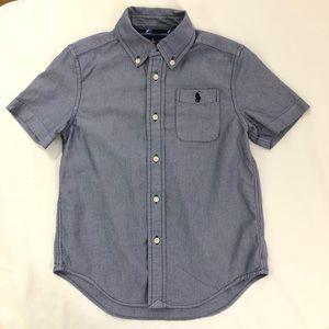 Ralph Lauren Boys' Short Sleeve Button Down Blue 6
